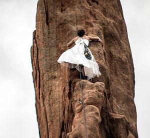 Climbing-in-a-Dress