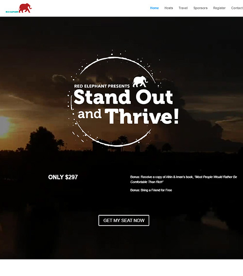 Red Elephant Stand Out and Thrive! Event